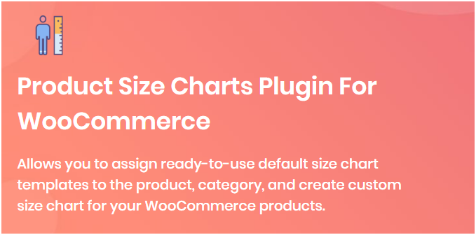 Figure 2 - Product Size Charts Plugin for WooCommerce