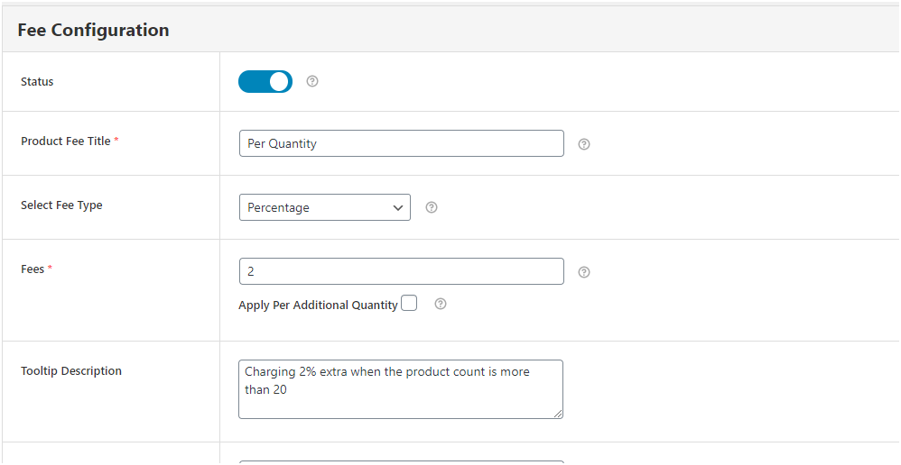 Figure 6 – charging 2% extra money when cart quantity is more than 20 for