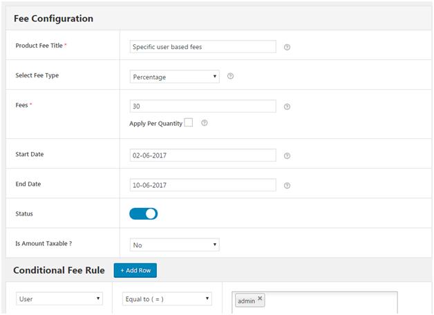 Figure 2 - Applying WooCommerce Extra Fees based on User Role