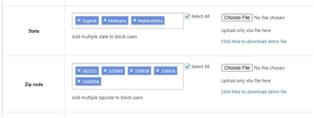 Figure 2 - Blocking users based on multiple factors