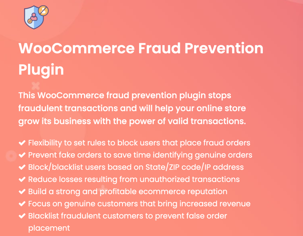 WooCommerce Fraud Prevention Plugin