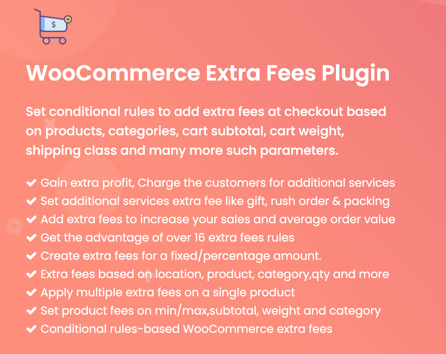 Figure 1 - WooCommerce Extra Fee Plugin and its features