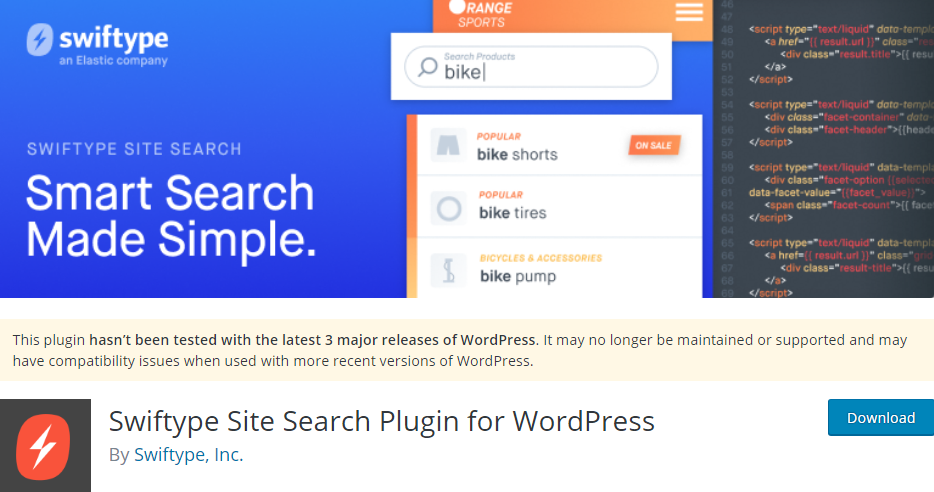 Plugin 5 - Swiftype Site Search Plugin for WordPress - 5 Awesome WordPress Search Plugins