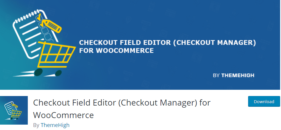 Plugin 2 - Checkout Field Editor for WooCommerce - Top 5 WooCommerce Checkout Field Editor Plugins for Sellers