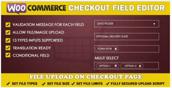 Plugin 5 - WooCommerce Checkout Field Editor - Top 5 WooCommerce Checkout Field Editor Plugins for Sellers